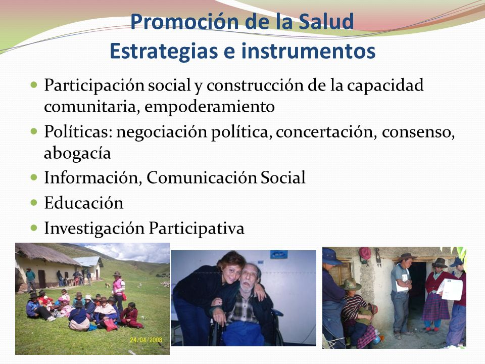 Promoción de la Salud Estrategias e instrumentos