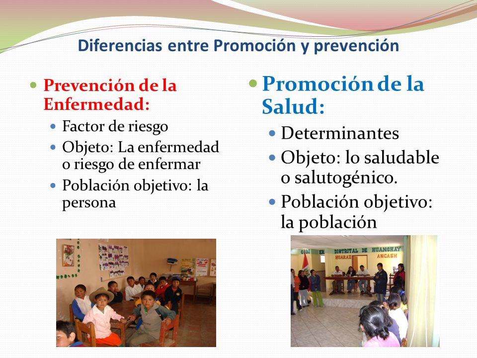 Diferencias entre Promoción y prevención