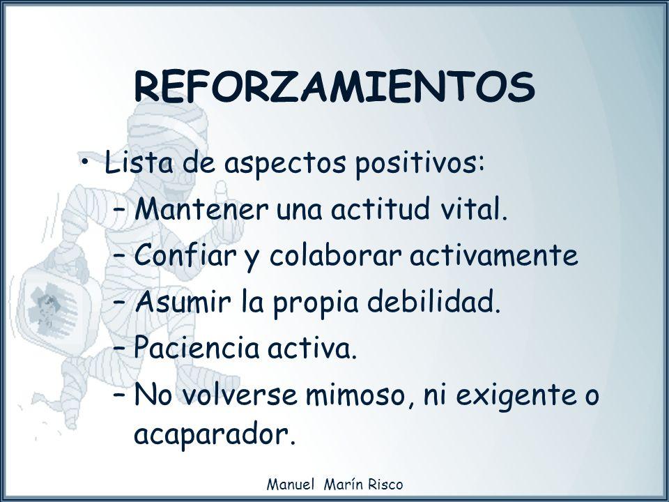 REFORZAMIENTOS Lista de aspectos positivos: