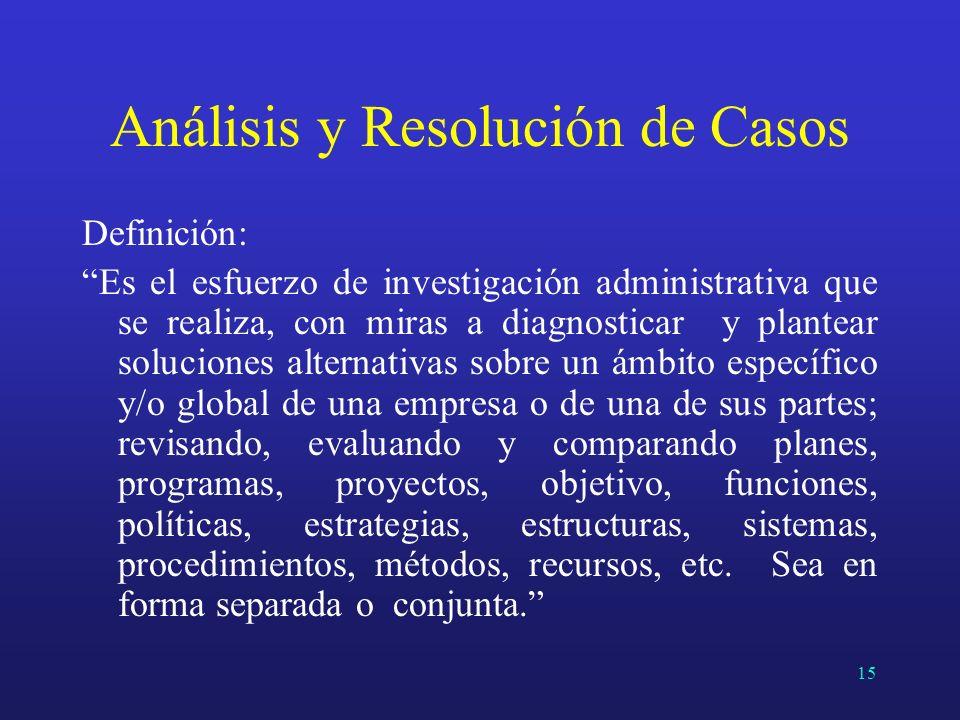 Análisis y Resolución de Casos