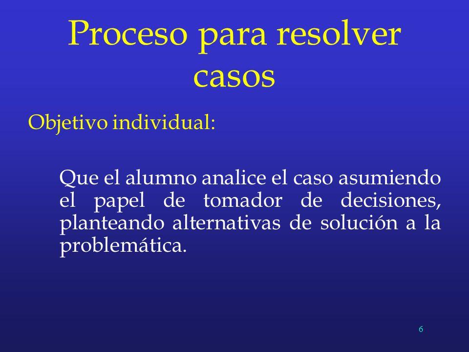Proceso para resolver casos