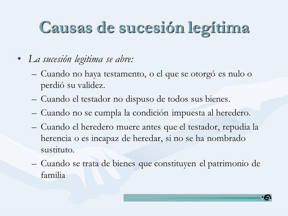 Causas de sucesión legítima