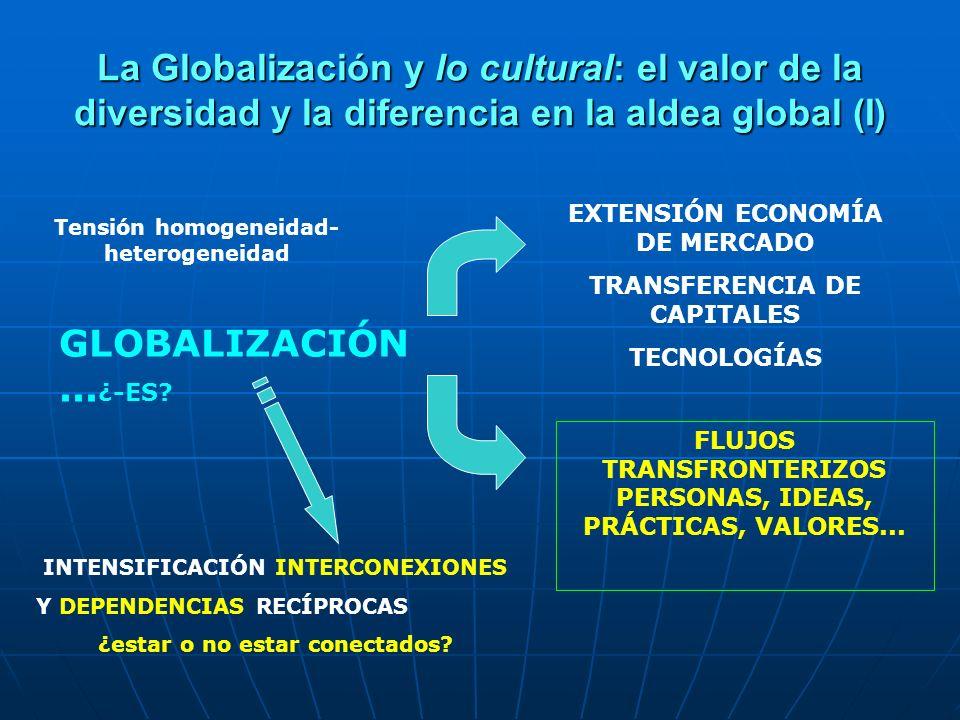 La Globalización y lo cultural: el valor de la diversidad y la diferencia en la aldea global (I)