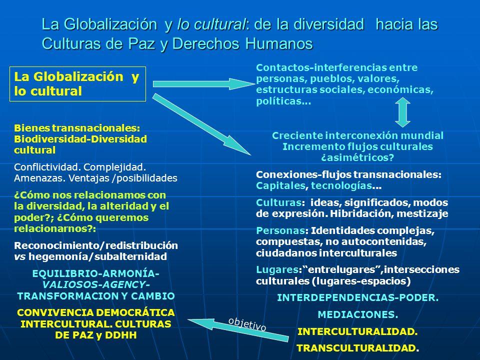 La Globalización y lo cultural: de la diversidad hacia las Culturas de Paz y Derechos Humanos