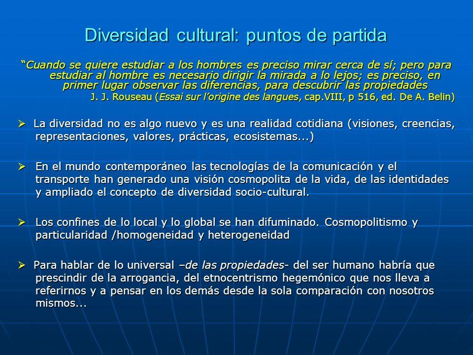 Diversidad cultural: puntos de partida