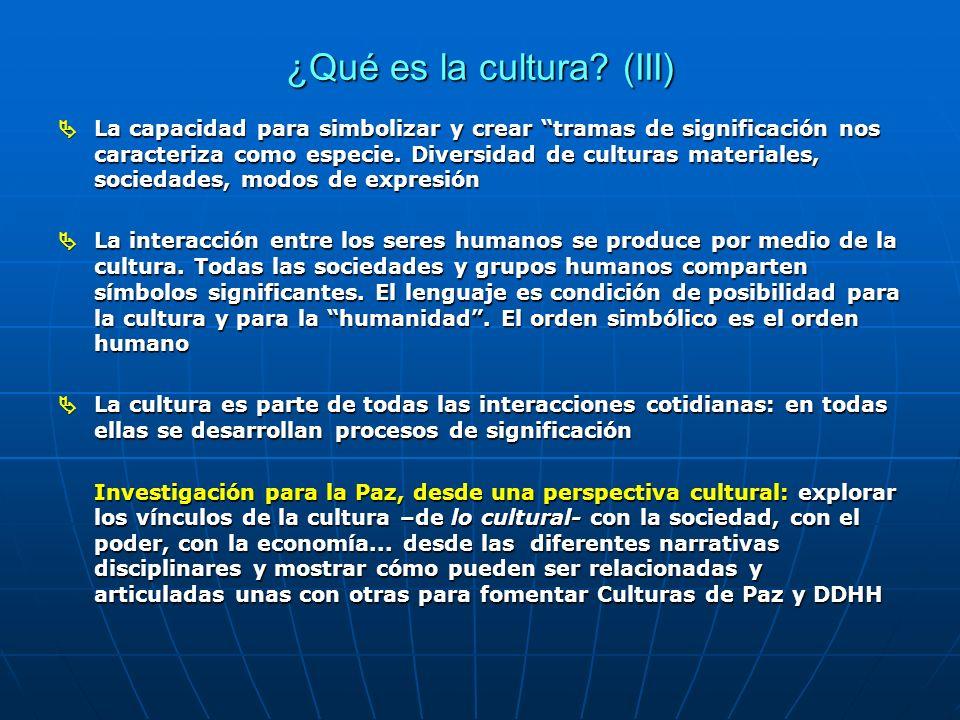 ¿Qué es la cultura (III)