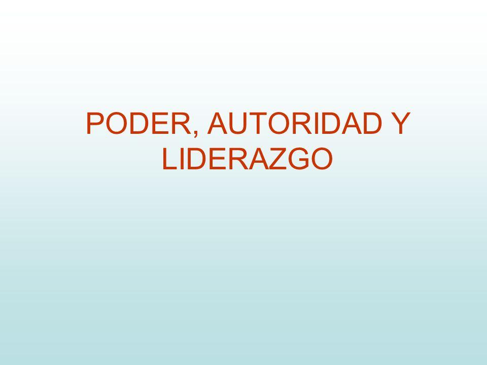 PODER, AUTORIDAD Y LIDERAZGO