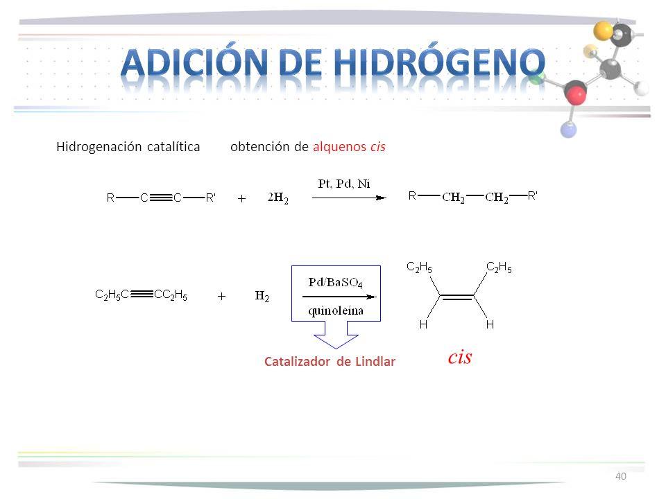 Adición de hidrógeno cis
