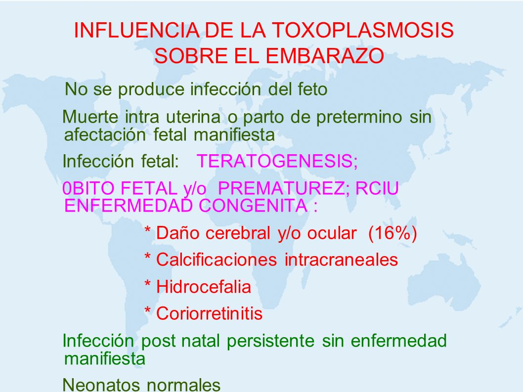 INFLUENCIA DE LA TOXOPLASMOSIS SOBRE EL EMBARAZO