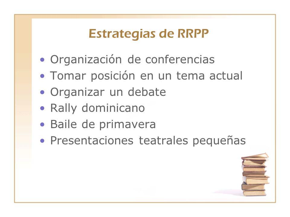 Estrategias de RRPP Organización de conferencias