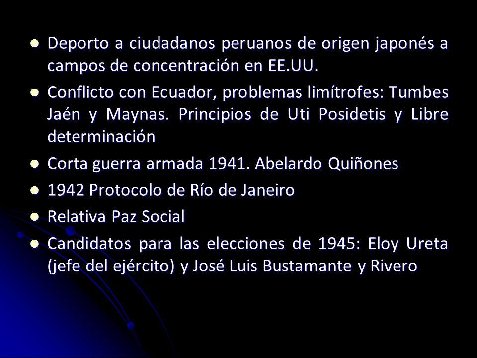 Deporto a ciudadanos peruanos de origen japonés a campos de concentración en EE.UU.