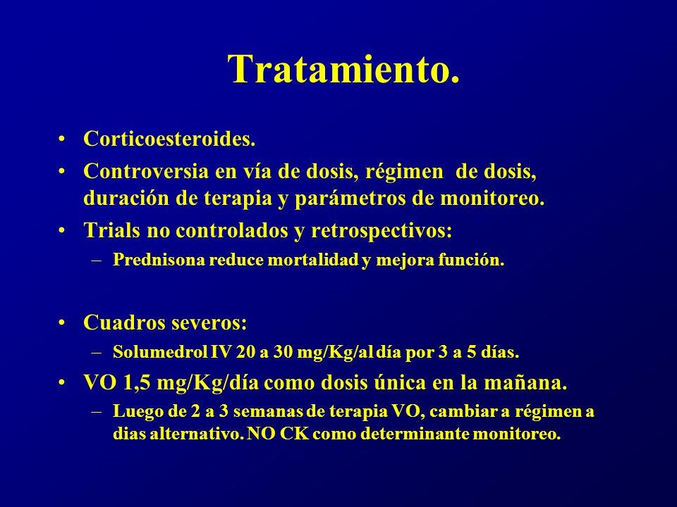 Tratamiento. Corticoesteroides.