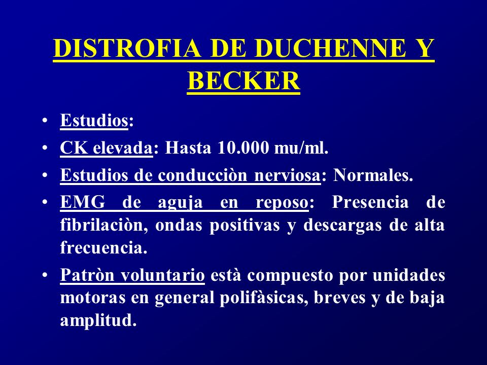 DISTROFIA DE DUCHENNE Y BECKER