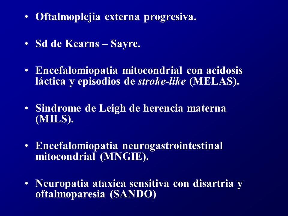 Oftalmoplejia externa progresiva.