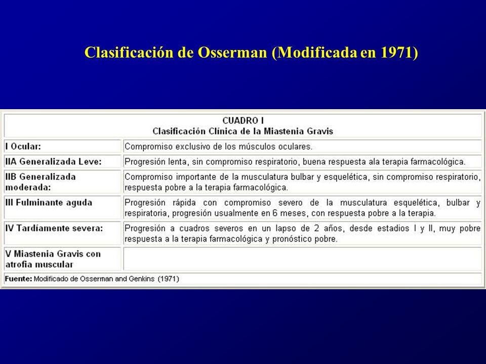 Clasificación de Osserman (Modificada en 1971)