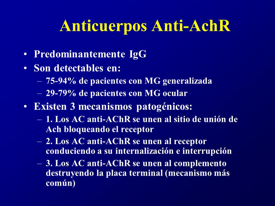 Anticuerpos Anti-AchR