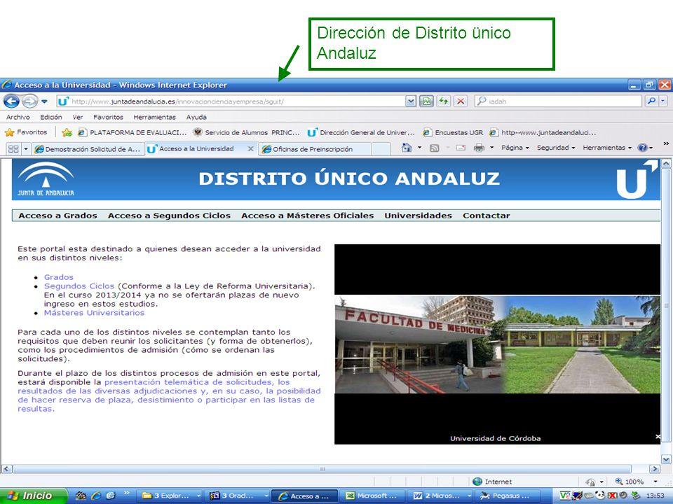 Dirección de Distrito ünico Andaluz