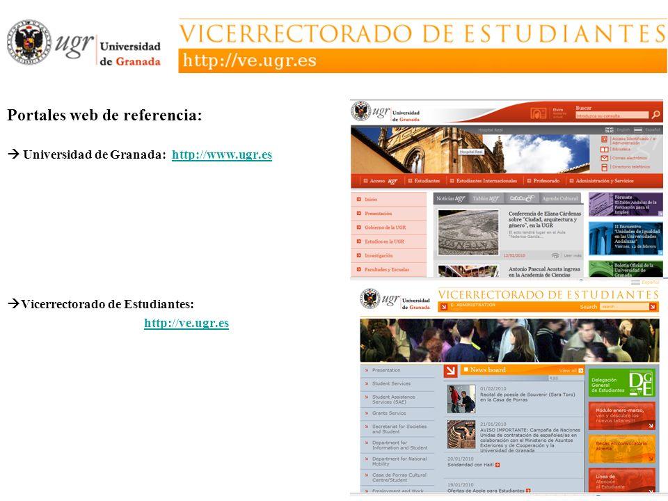 Portales web de referencia:
