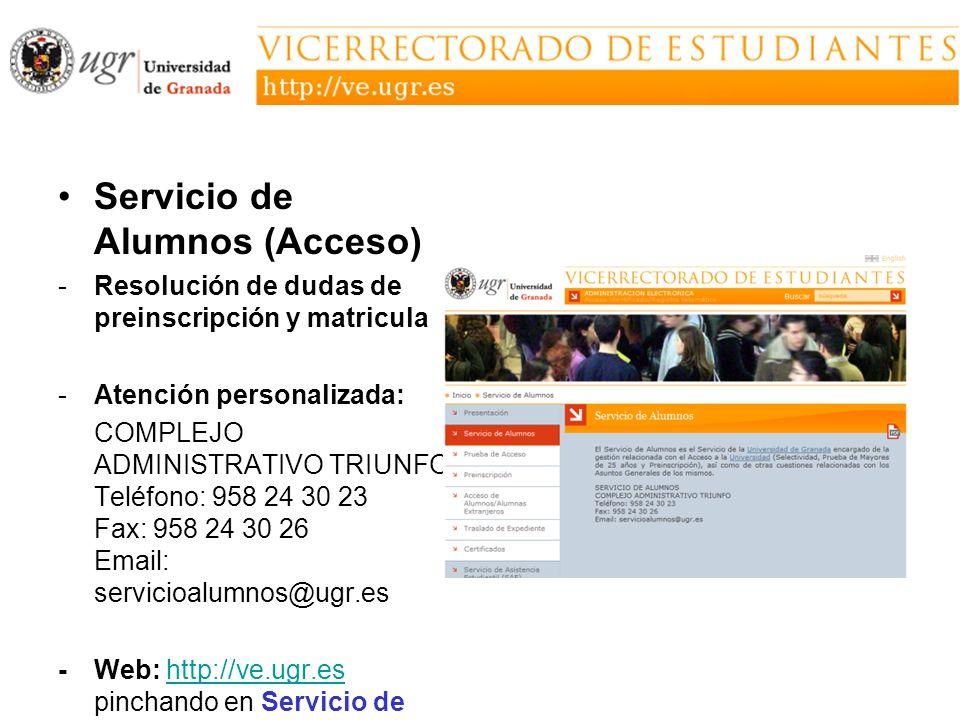 Servicio de Alumnos (Acceso)