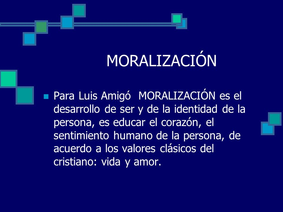 MORALIZACIÓN