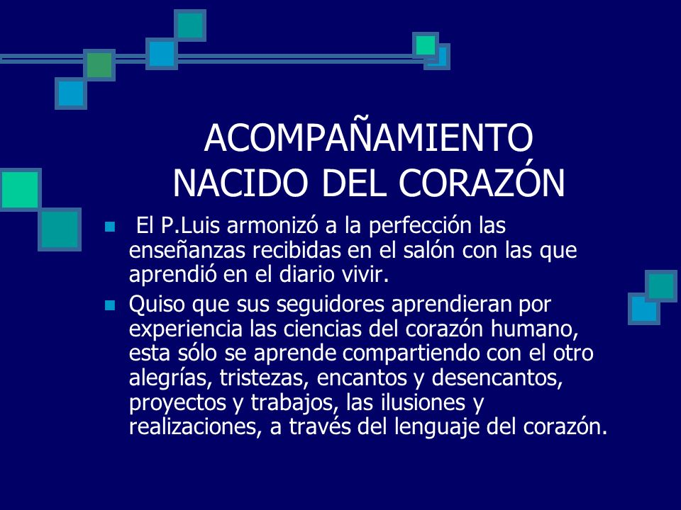 ACOMPAÑAMIENTO NACIDO DEL CORAZÓN