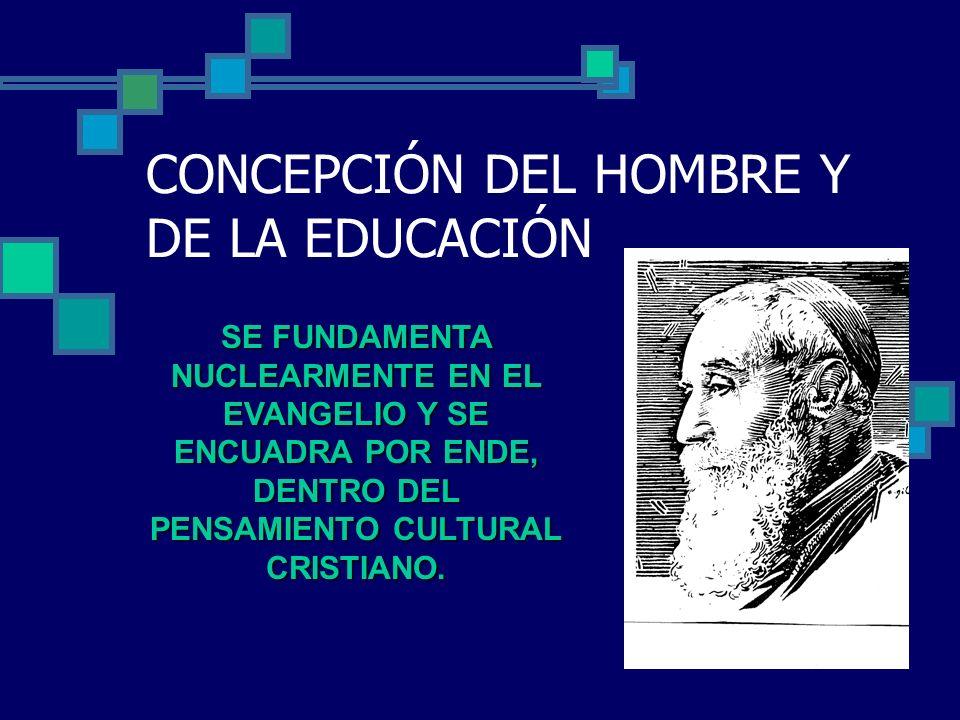 CONCEPCIÓN DEL HOMBRE Y DE LA EDUCACIÓN