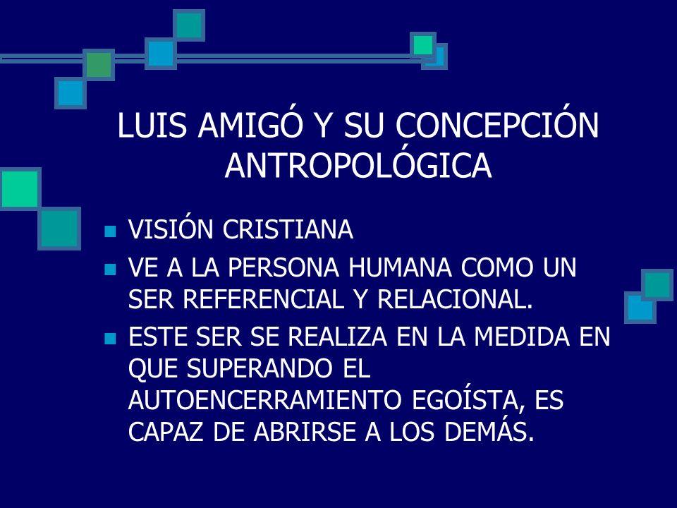 LUIS AMIGÓ Y SU CONCEPCIÓN ANTROPOLÓGICA