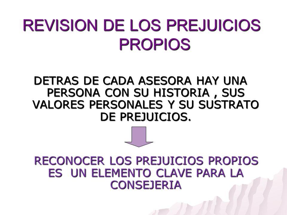 REVISION DE LOS PREJUICIOS PROPIOS