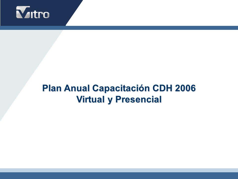 Plan Anual Capacitación CDH 2006 Virtual y Presencial