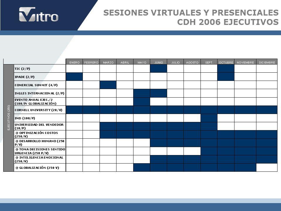 SESIONES VIRTUALES Y PRESENCIALES CDH 2006 EJECUTIVOS