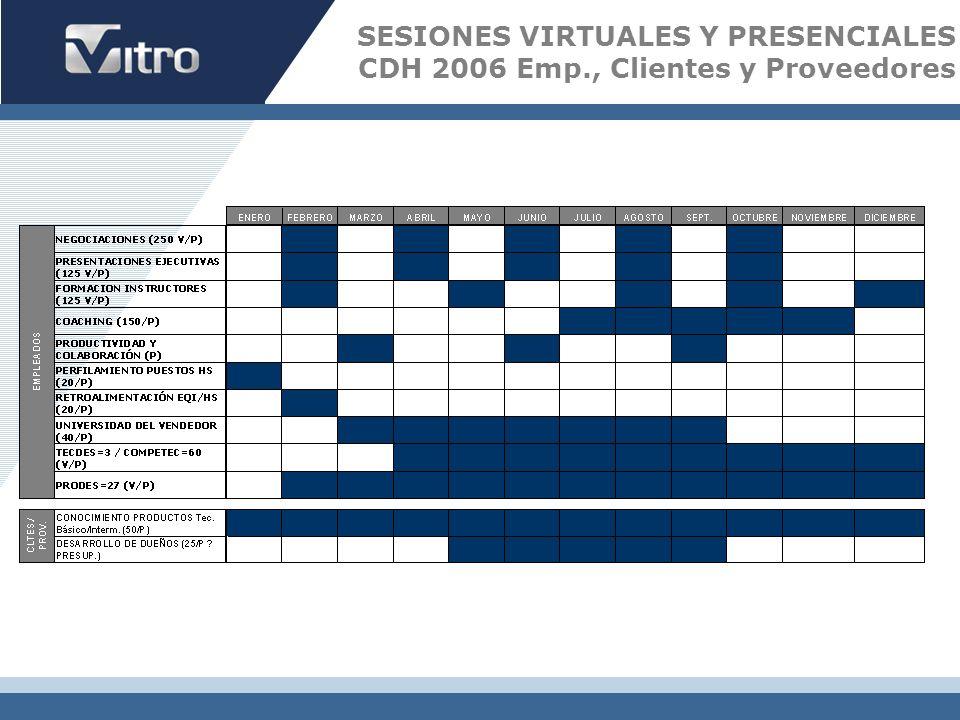SESIONES VIRTUALES Y PRESENCIALES CDH 2006 Emp