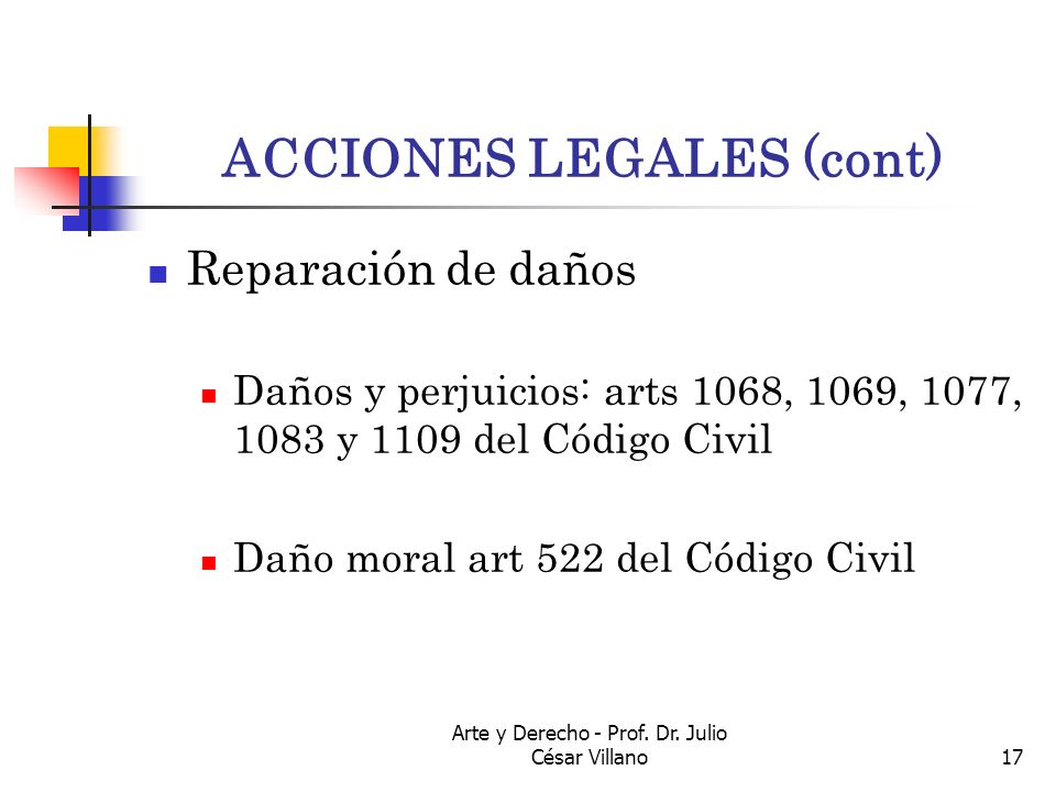 ACCIONES LEGALES (cont)