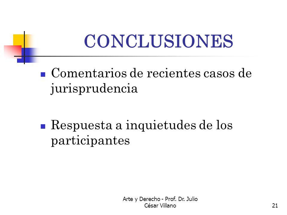 Arte y Derecho - Prof. Dr. Julio César Villano