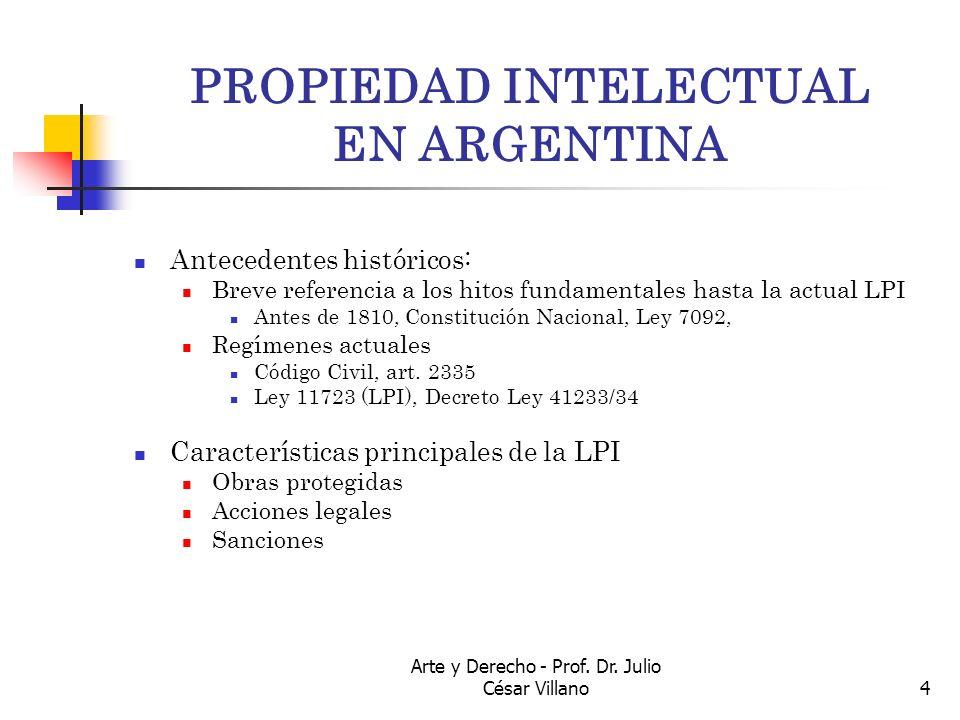 PROPIEDAD INTELECTUAL EN ARGENTINA