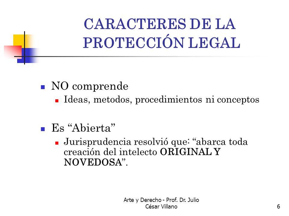 CARACTERES DE LA PROTECCIÓN LEGAL