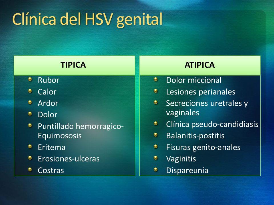 Clínica del HSV genital