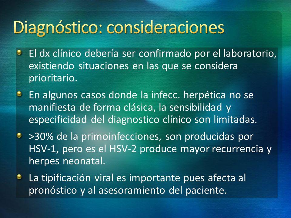 Diagnóstico: consideraciones