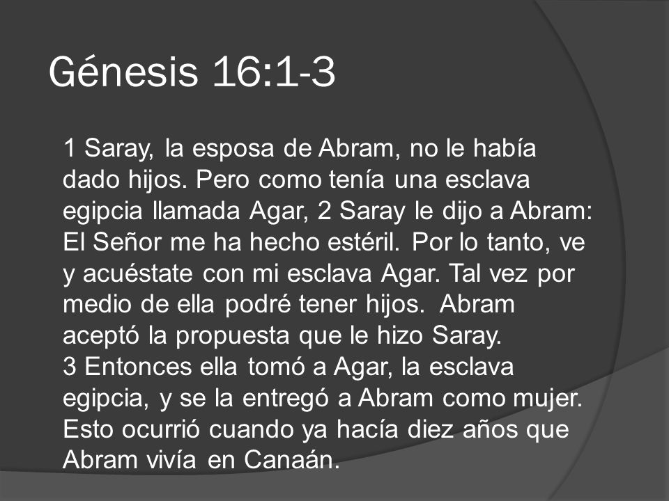 Génesis 16:1-3
