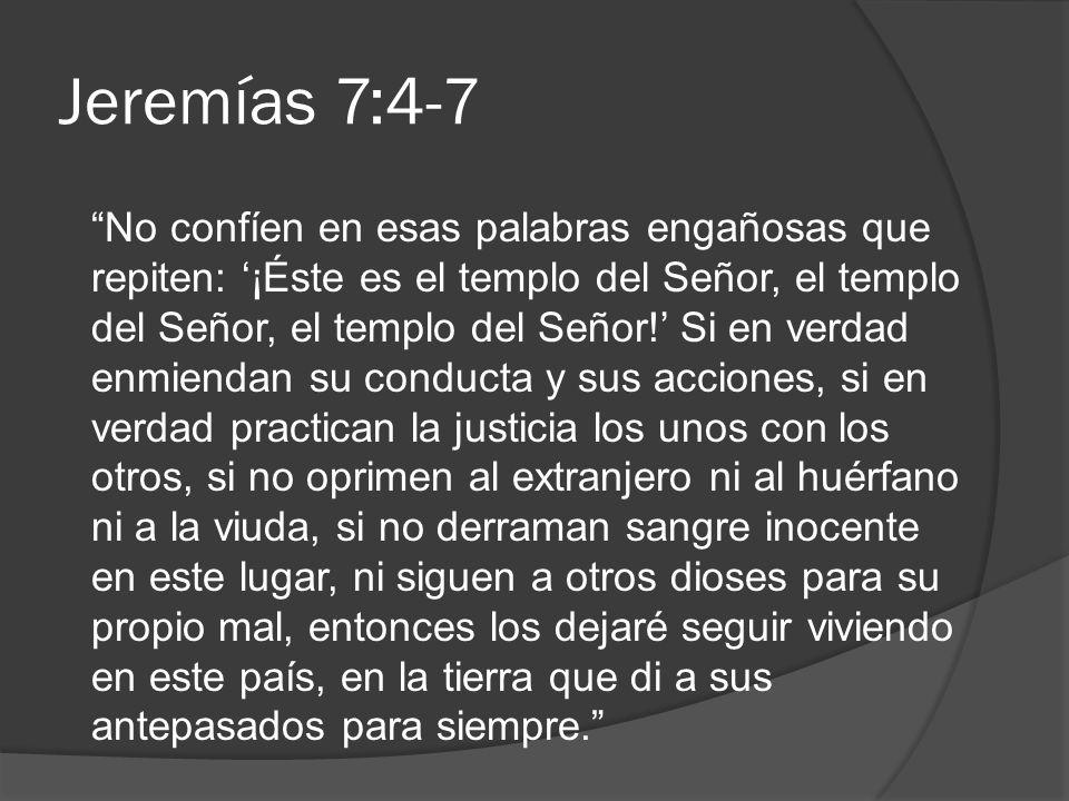 Jeremías 7:4-7