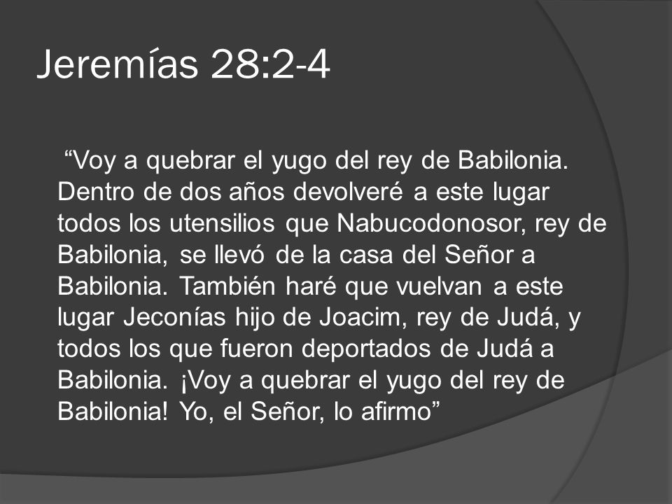 Jeremías 28:2-4