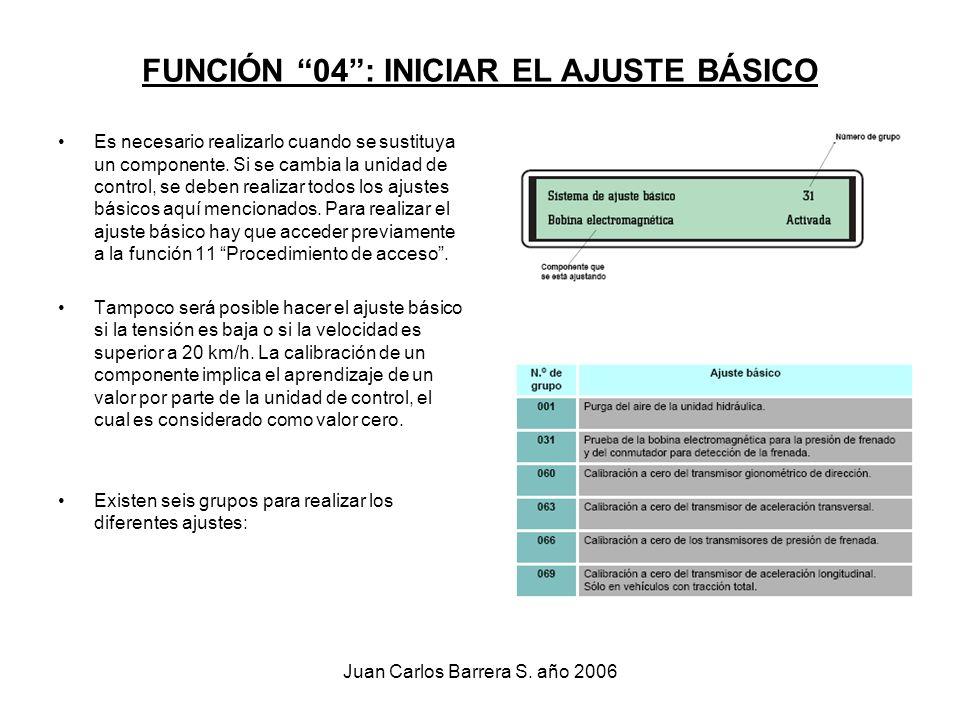 FUNCIÓN 04 : INICIAR EL AJUSTE BÁSICO