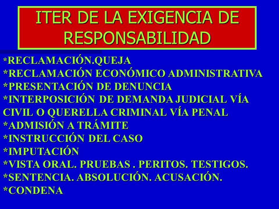 ITER DE LA EXIGENCIA DE RESPONSABILIDAD
