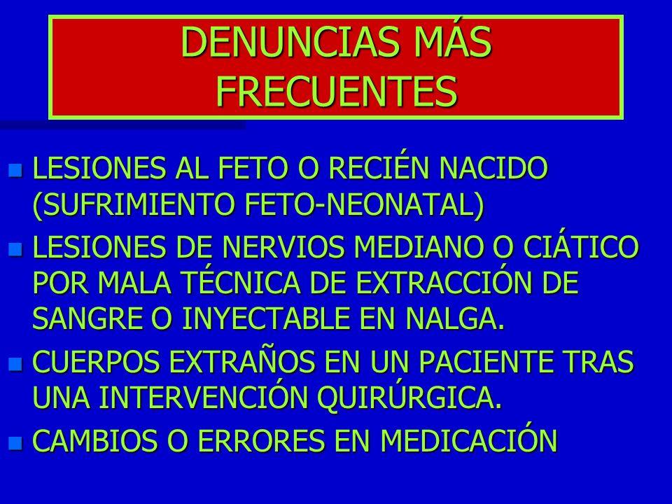 DENUNCIAS MÁS FRECUENTES
