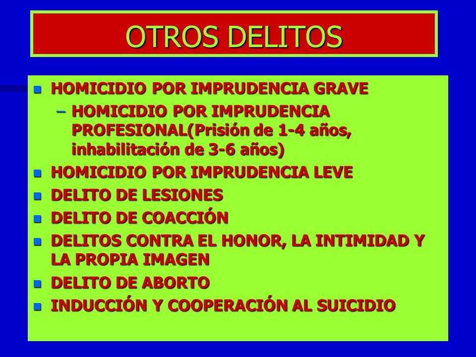 OTROS DELITOS HOMICIDIO POR IMPRUDENCIA GRAVE
