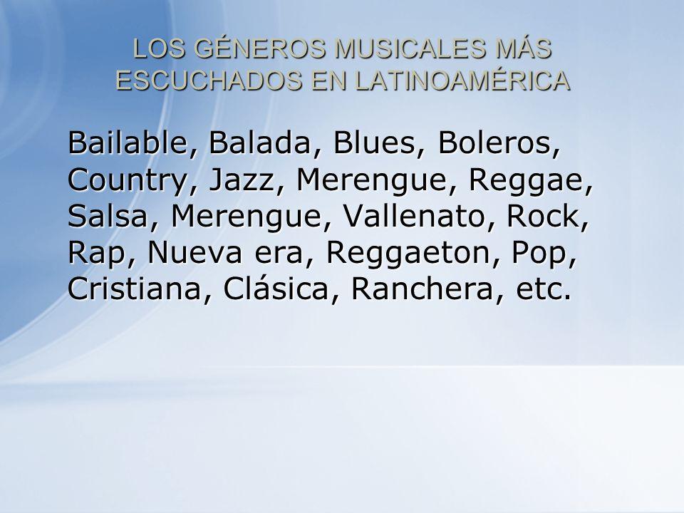 LOS GÉNEROS MUSICALES MÁS ESCUCHADOS EN LATINOAMÉRICA