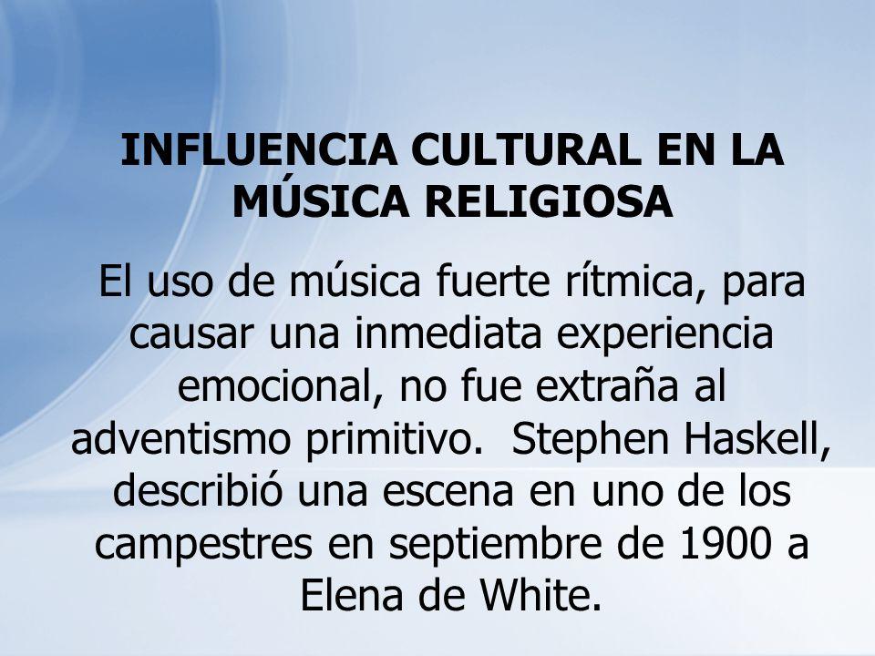 INFLUENCIA CULTURAL EN LA MÚSICA RELIGIOSA