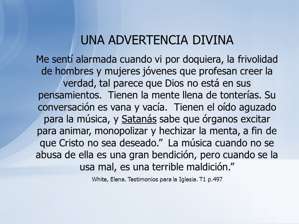UNA ADVERTENCIA DIVINA