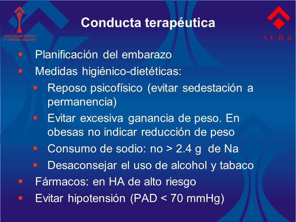 Conducta terapéutica Planificación del embarazo