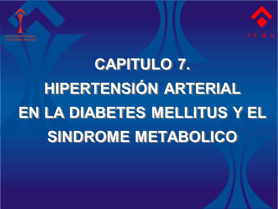 S U H A CAPITULO 7. HIPERTENSIÓN ARTERIAL EN LA DIABETES MELLITUS Y EL SINDROME METABOLICO