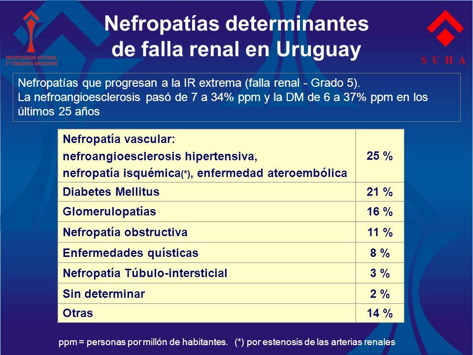 Nefropatías determinantes de falla renal en Uruguay
